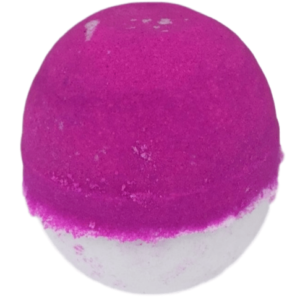 Pink and white coconut bathbomb